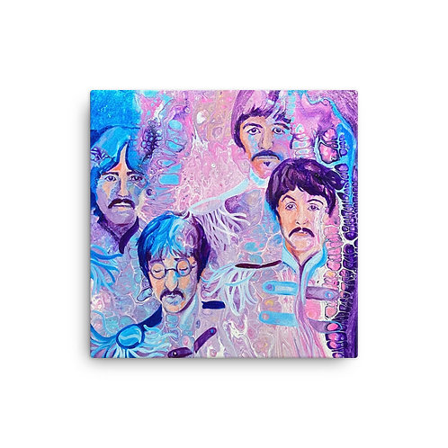 "Angela Lubinecky ""Beatles"" (16""x16"" Canvas Giclee)"