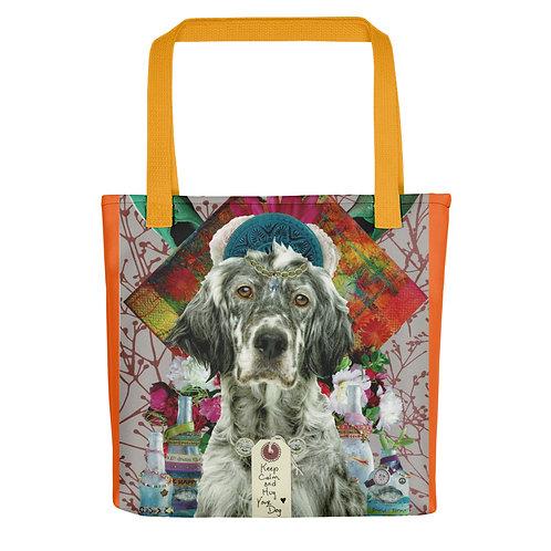 "Claudia Lambdin/Ahjnae Collage ""Keep Calm & Hug Your Dog"" (Tote bag)"