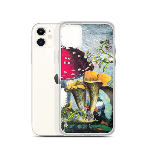 Mushrooms and Blooms (iPhone Case) by Rachel Newell