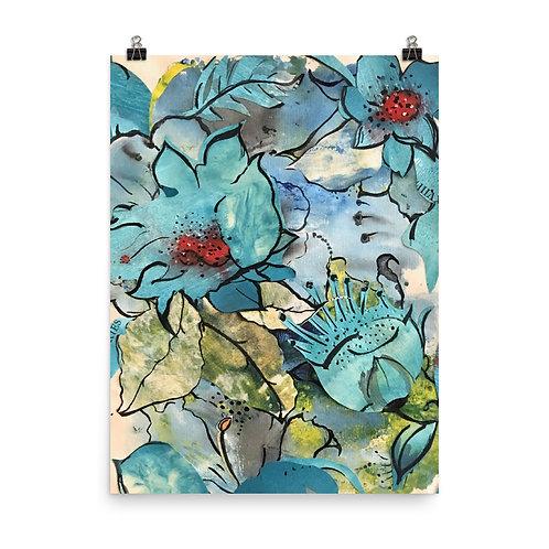 """Ana dos Santos """"Blue Floral"""""""
