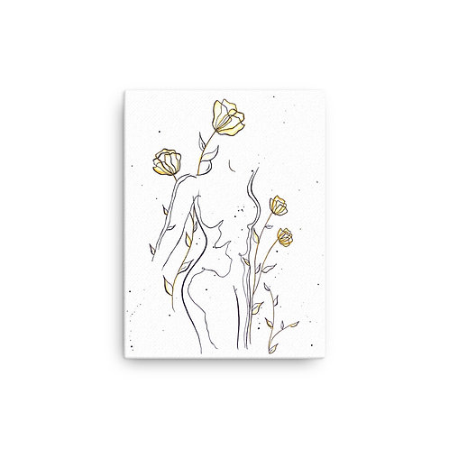 """Grace You """"Spring in Marigold"""" (Canvas Giclee)"""