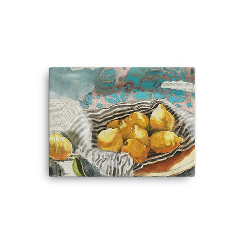 "Kathy Shorkey ""Lemons in Bowl"" (Canvas Giclee)"