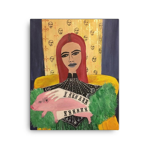 """Brittany Minnes """"Gucci Pig"""" (16"""" x 20"""" Canvas Giclee)"""