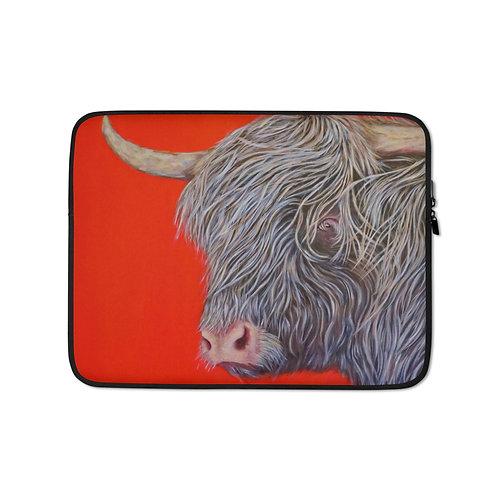 """Carol Greenwood """"Big Red Cow"""" (Laptop Case)"""