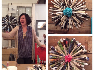 Re-cycled wreaths!!