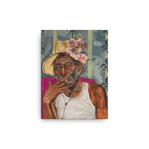"Kathy Shorkey ""Cuban Dude"" (Canvas Giclee)"