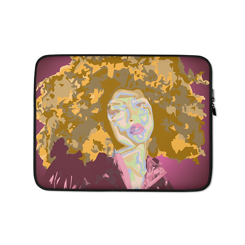 Don't Touch my Hair (Laptop Case) by Jay Clark