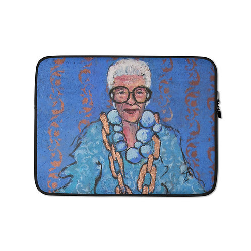 Blue Always Looks Good on You (Laptop Case) by Iris van Zanten