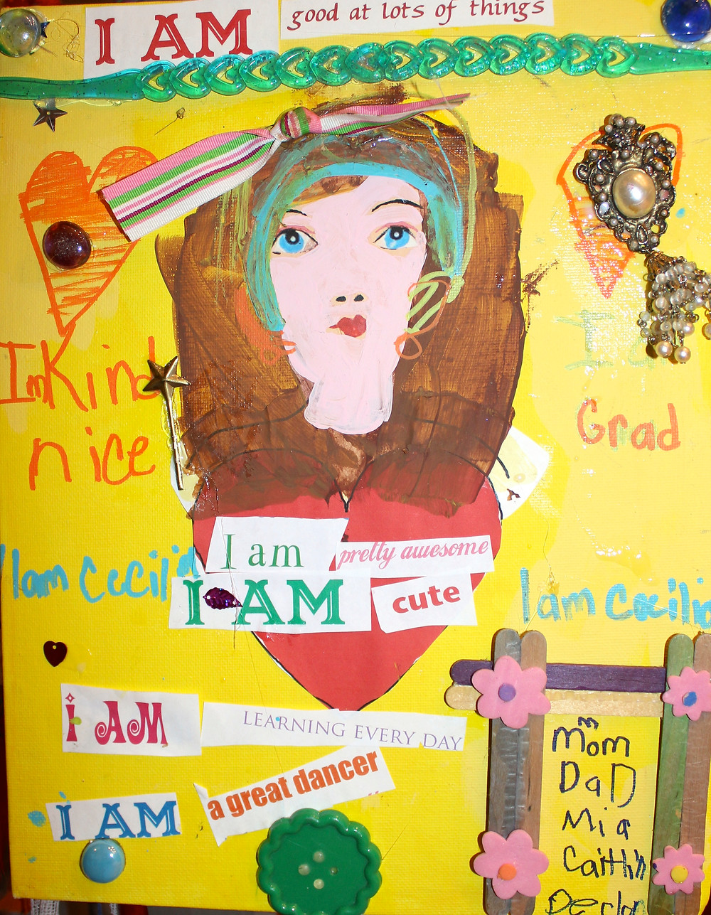 """Camp Yaya's fab """"I am"""" project inspired by Brave Girls Club! Very empowering project for these young ladies as they celebrate and acknowledge all that makes them unique and special creatures!"""