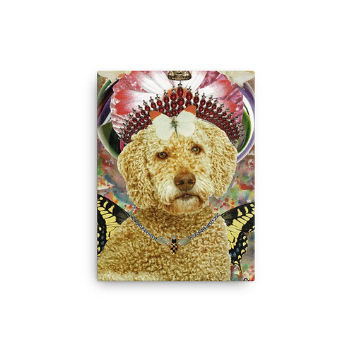 "Claudia Lambdin/Ahjnae Collage ""Goldendoodle"" (Canvas Giclee)"