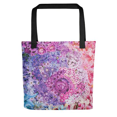 """Rachel Newell """"Rainbow in Bloom 2"""" (Tote bag)"""