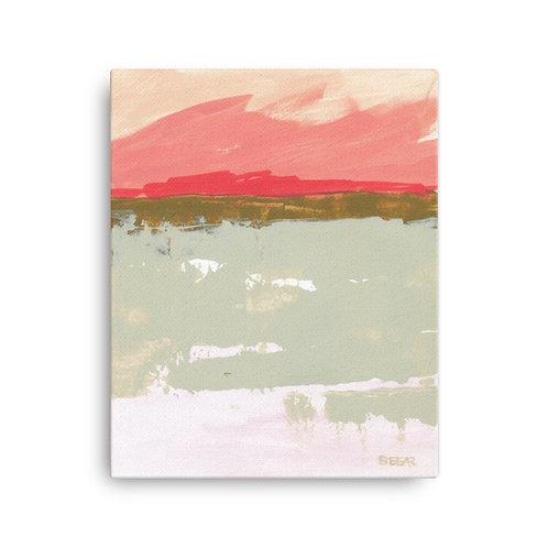 "Angela Seear ""Pink Sky"" (16x20 inch Canvas Giclee)"