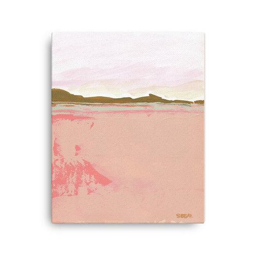 Pink Fields (16x20 inch Canvas Giclee) by Angela Seear