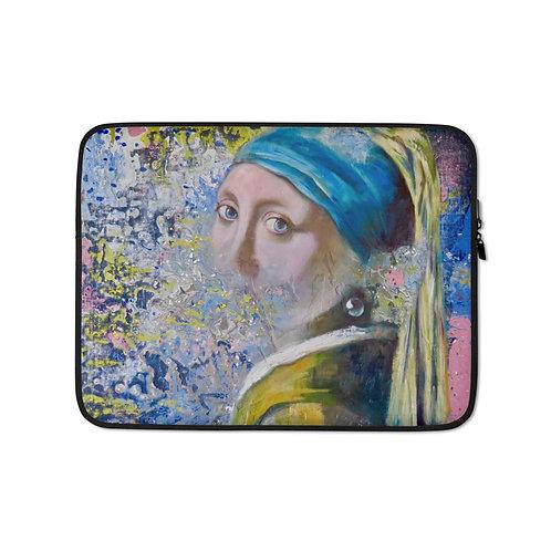 """Carol Greenwood """"Homage to Vermeer"""" (Laptop Case)"""