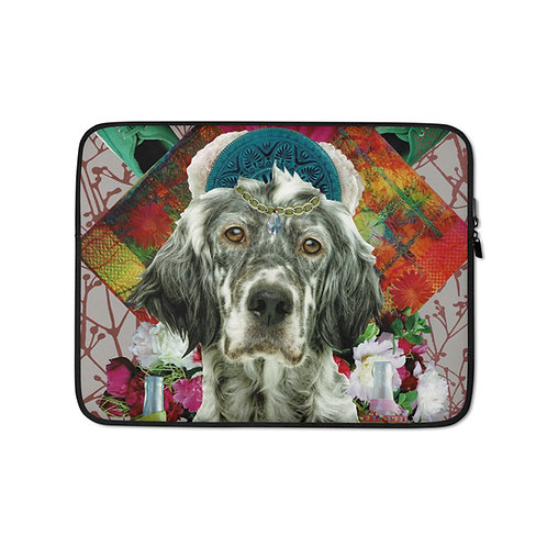 "Claudia Lambdin/Ahjna Collage ""Keep Calm and Hug Your Dog"" (Laptop Case)"