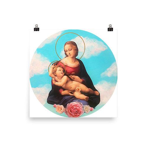 "Sarah Renzi Sanders ""Madonna of the Roses"""