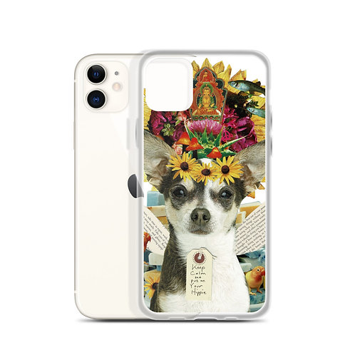 """Claudia Lambdin/Ahjnae Collage """"Keep Calm and Put on Your Hippie"""" (iPhone Case)"""