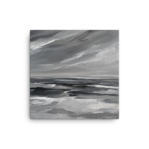 Grey Sea (Canvas. Giclee) by Megan Elizabeth