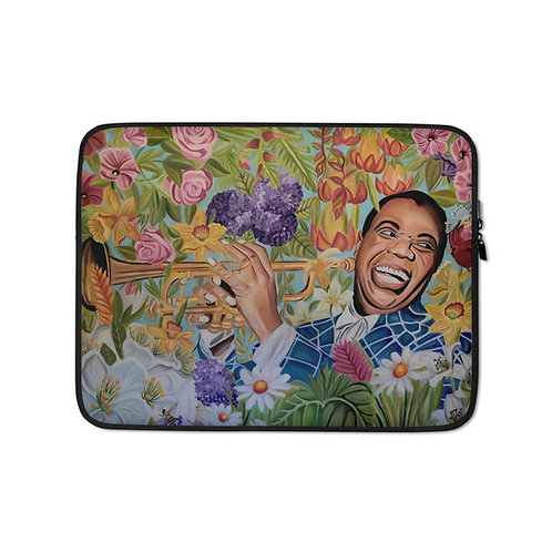 Satchmo in the Garden (Laptop Case) by Coco Martin