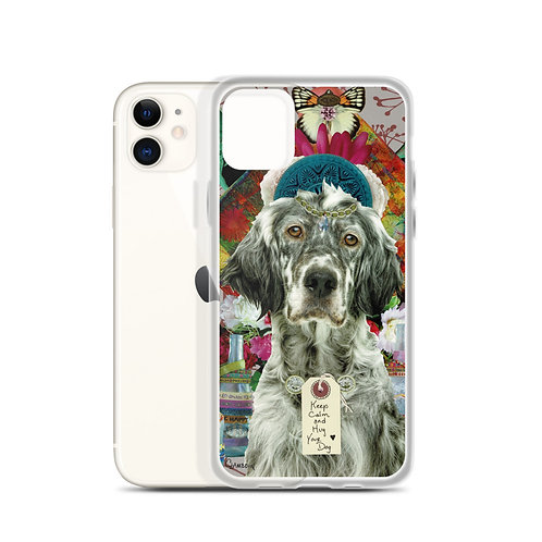Keep Calm and Hug Your Dog (iPhone Case) by Claudia Lambdin/AhjnaeCollage