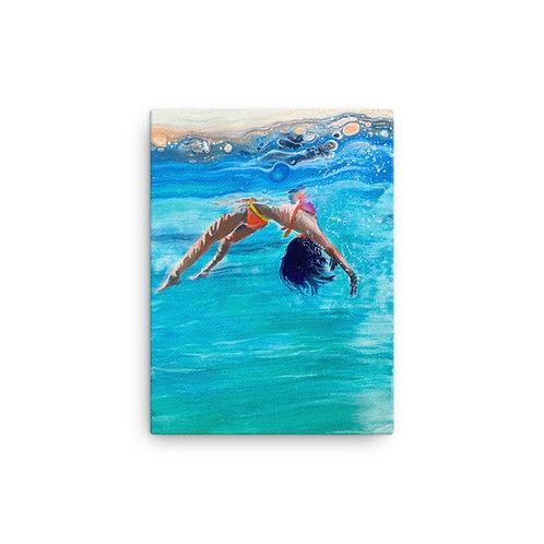 "Angela Lubinecky ""With Abandon"" (Canvas Giclee)"