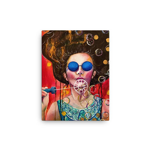 The Girl of the Invisible Pearls (Canvas Giclee) by Lola Burgos