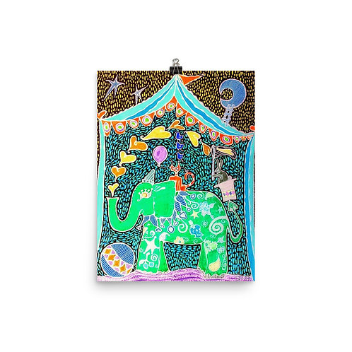 Luna Circus Green by Sandra Perez-Ramos