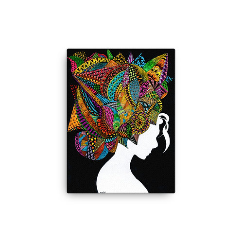 "Ghia Haddad ""Headdress"" (Canvas Giclee)"