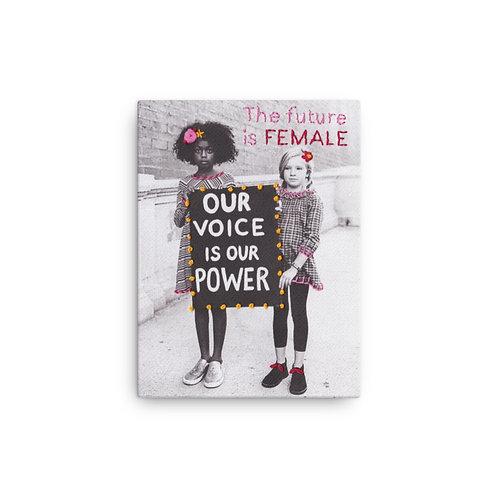 """Elise Benetreau """"Girls Voice"""" (Canvas Giclee)"""