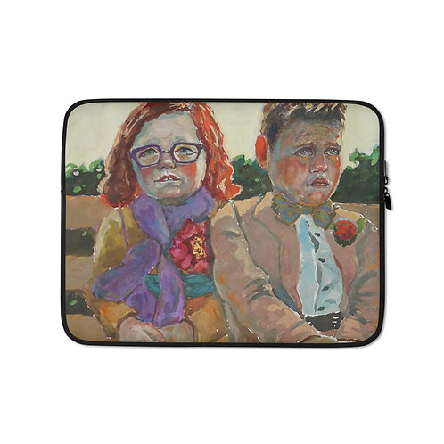 "Kathy Shorkey ""Goobers on Bench"" (Laptop Case)"