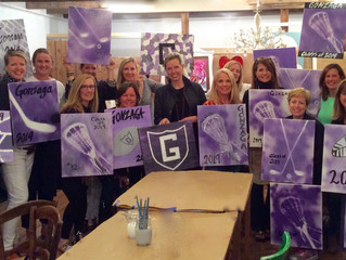 Purple paintings! Go eagles!
