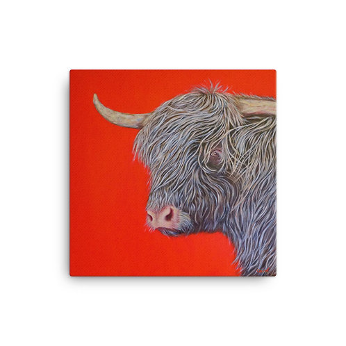 "Carol Greenwood ""Big Red Cow"" (Canvas Giclee)"