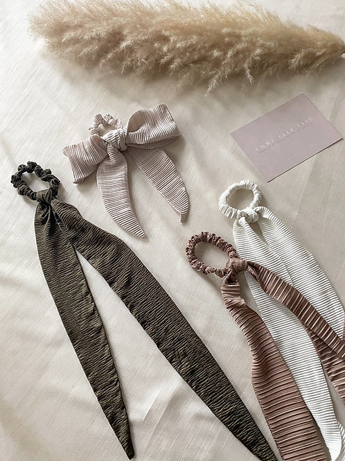 Crinkle Plisse Hair Tie | 4 Colours Available