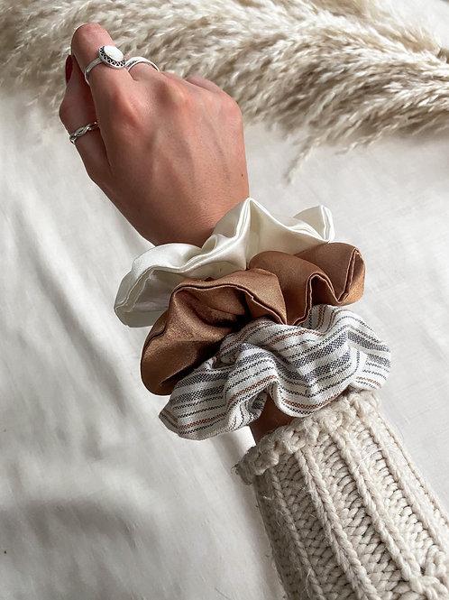 3 Pack of Scrunchies | Autumn Stripe