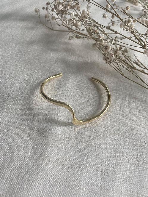 Wave Cuff Bracelet | Gold