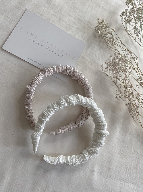 Crinkle Skinny Scrunchie Headband   2 Colours Available