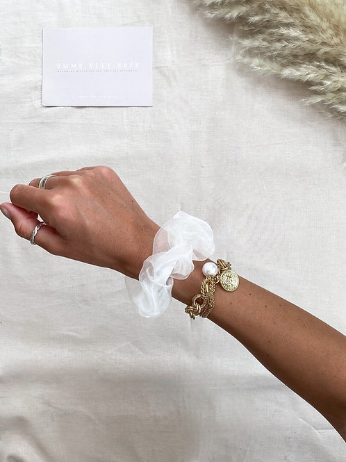 Organza Scrunchie | White