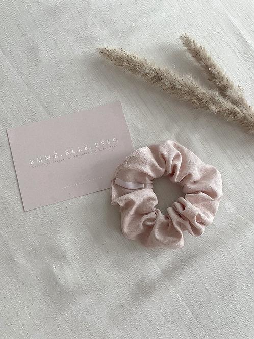 Linen Scrunchie | Pale Rose