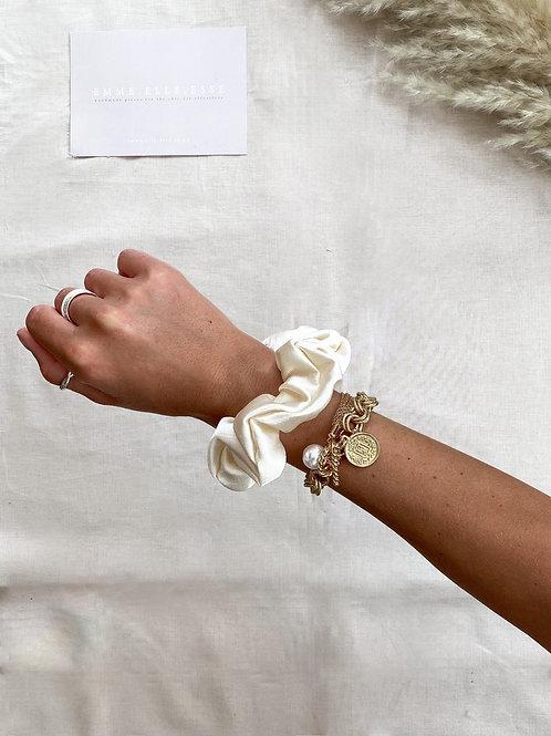 Silk Satin Scrunchie | Cream
