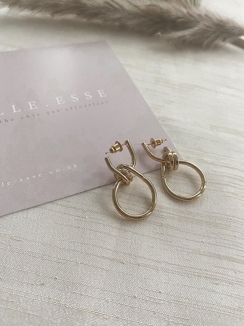 Mini Knot Earrings | Gold