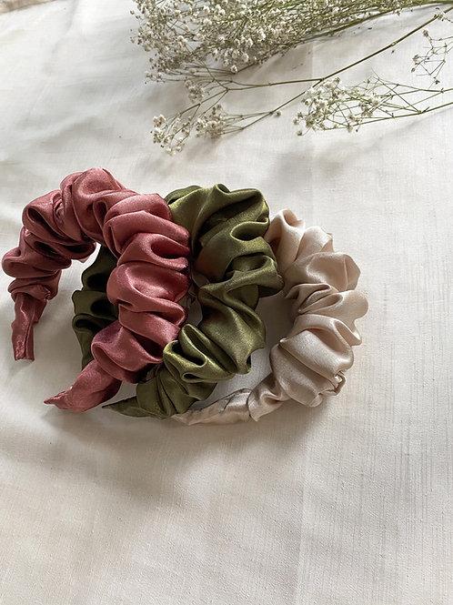 Satin Scrunchie Headband | Multiple Colours Available