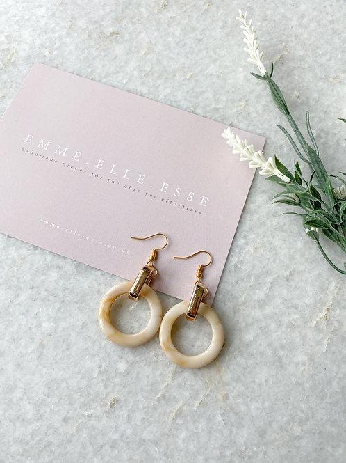 Marbled Resin Earrings | Beige