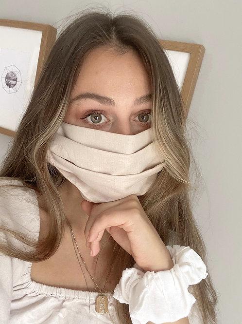 Linen Face Mask | Beige