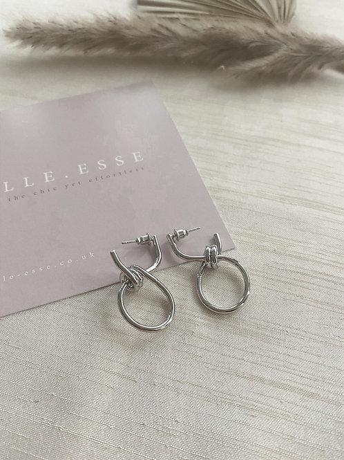 Mini Knot Earrings   Silver
