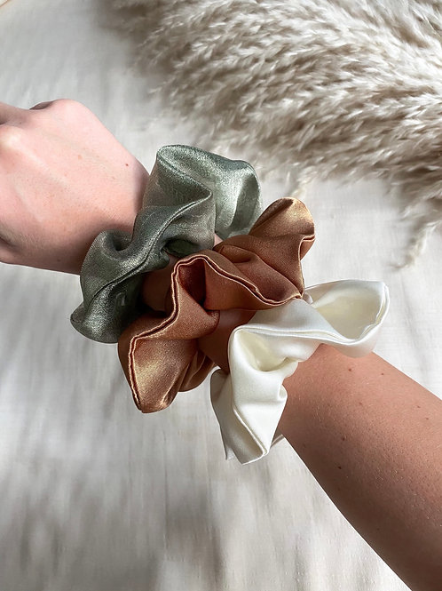 3 Pack of Scrunchies | Autumnal Tones