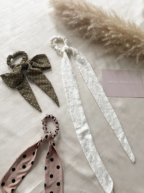 Cotton Hair Tie   Multiple Colours Available