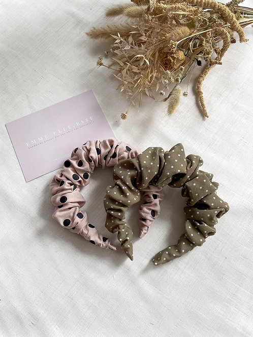 Cotton Scrunchie Headband | 2 Colours Available