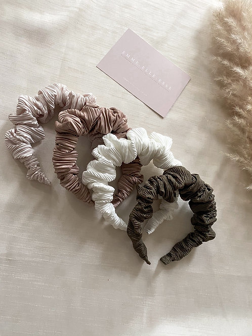 Crinkle Scrunchie Headband | 4 Colours Available
