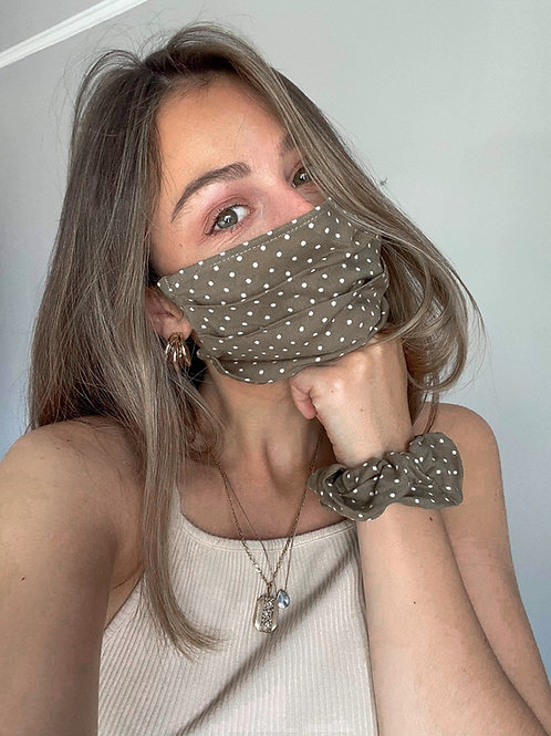 Cotton Face Mask | Spotted Olive