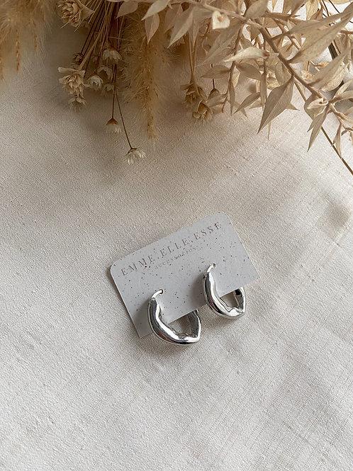 Irregular Hoops | Silver